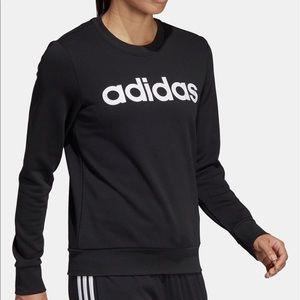Adidas Black Essentials Linear Crewneck Sweatshirt